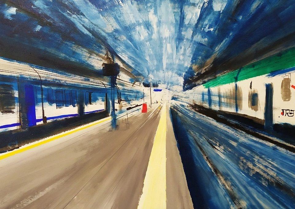 2019 Stazione Centrale 50x115cm olio su tela