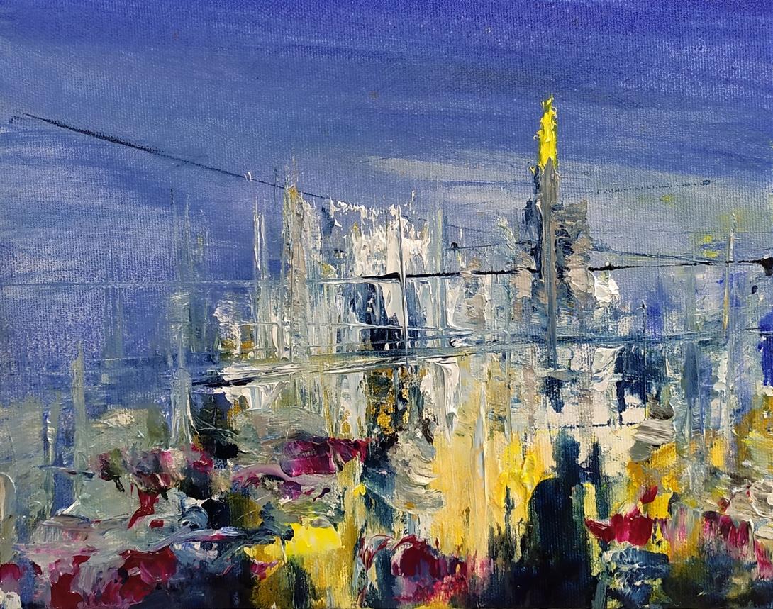 2019 Duomo 24x30cm olio su tela
