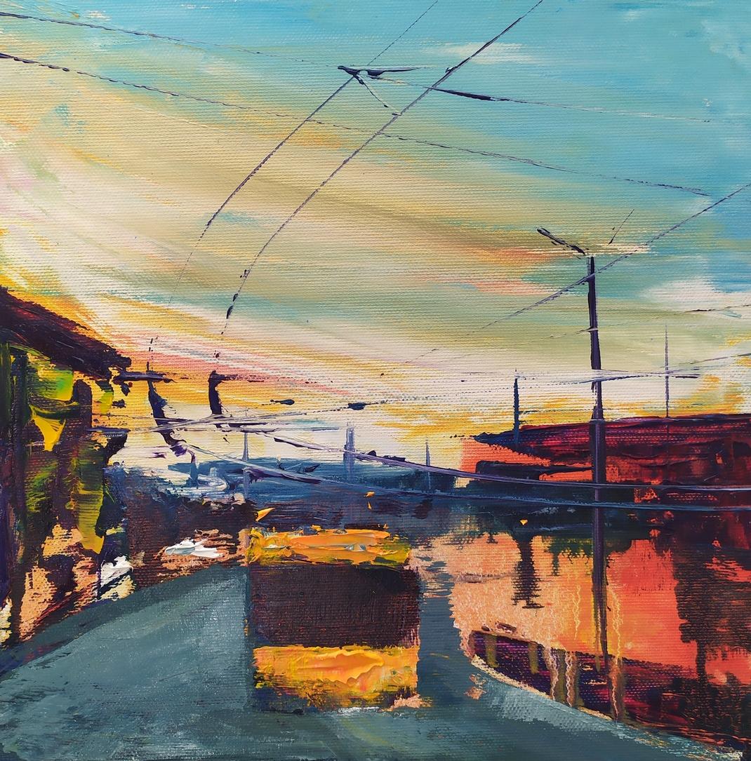 2019 Piazza Bottini 30x30cm olio su tela
