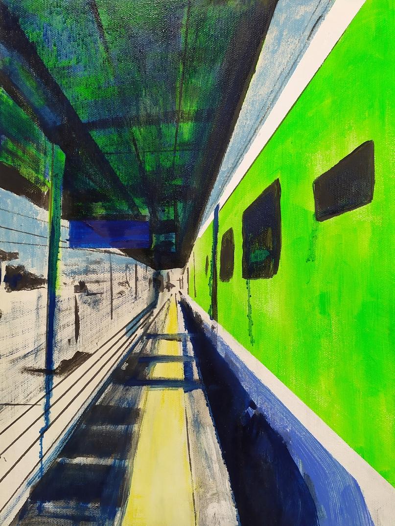 2020-Trenord-Caravaggio-40x30cm-acrilico-e-olio-su-tela