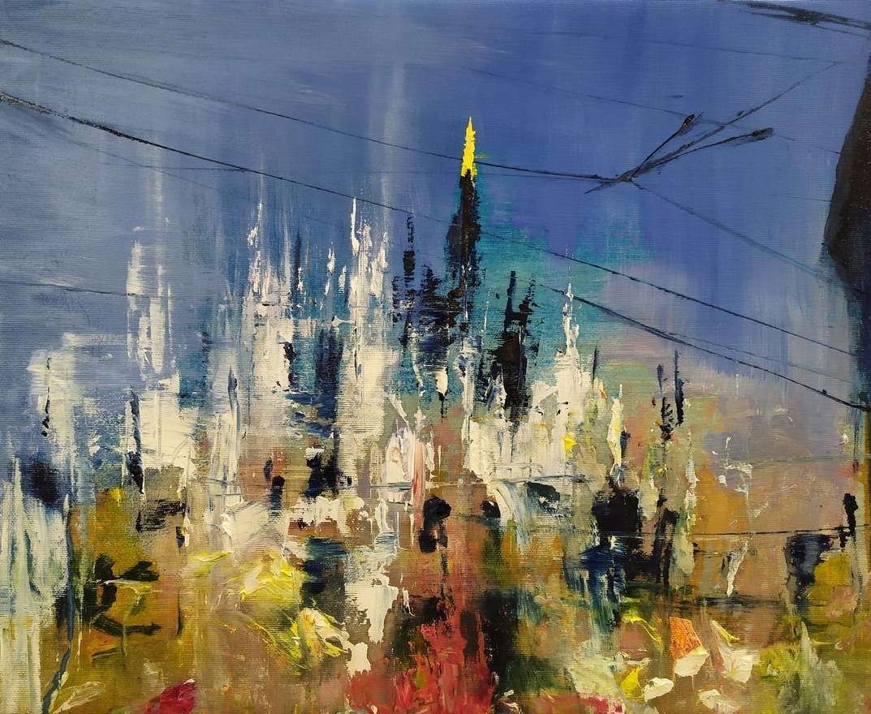 Duomo Milano 42x52cm olio su tela