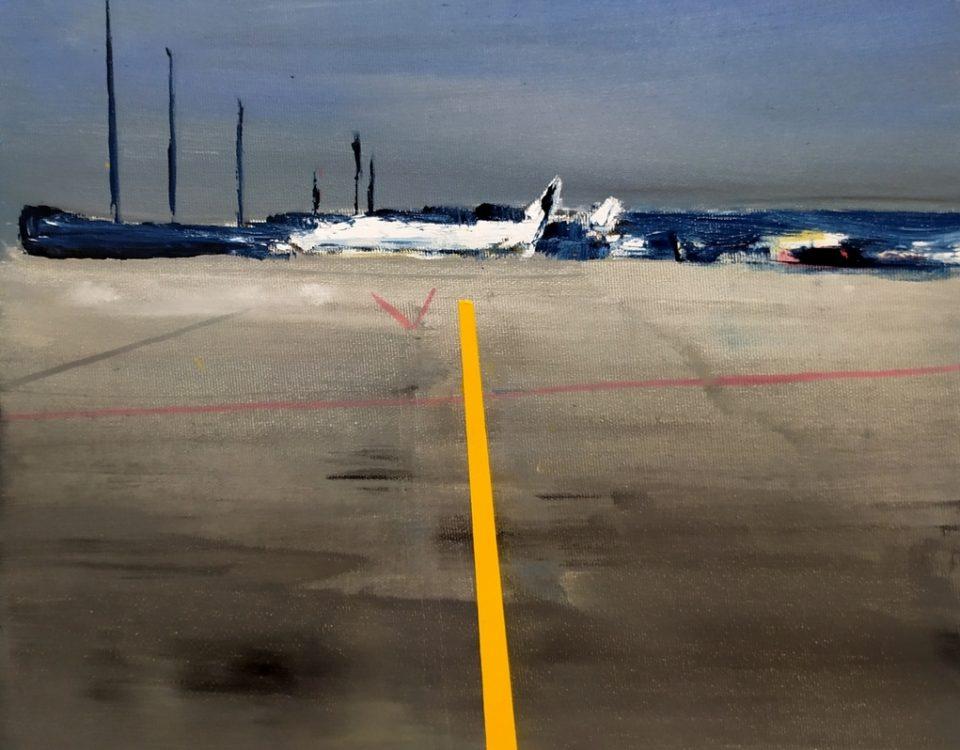 2020-Airport-50x40cm-olio-su-tela