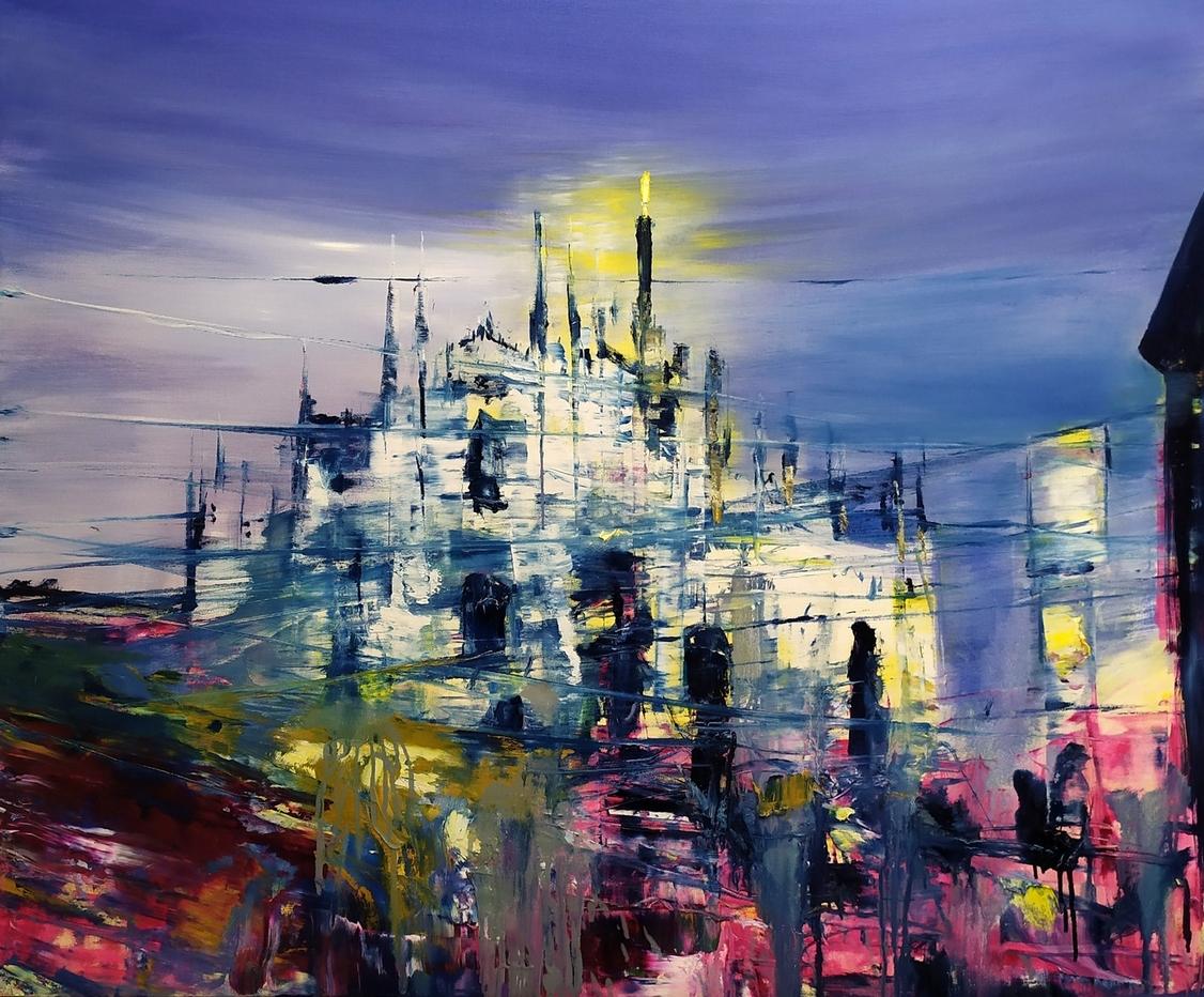 2020 Duomo 100x120cm olio su tela rid
