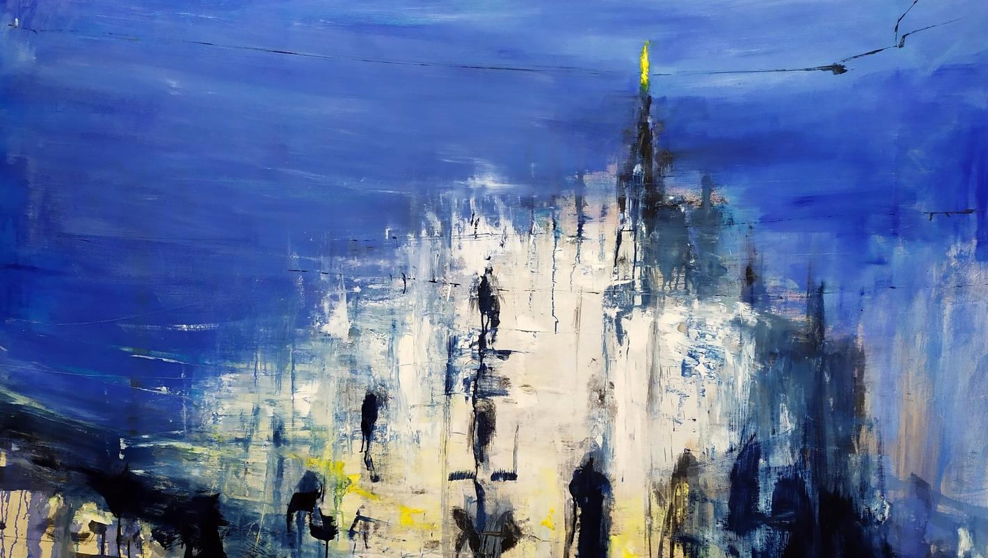 2020 Duomo 115x200cm olio su tela rid