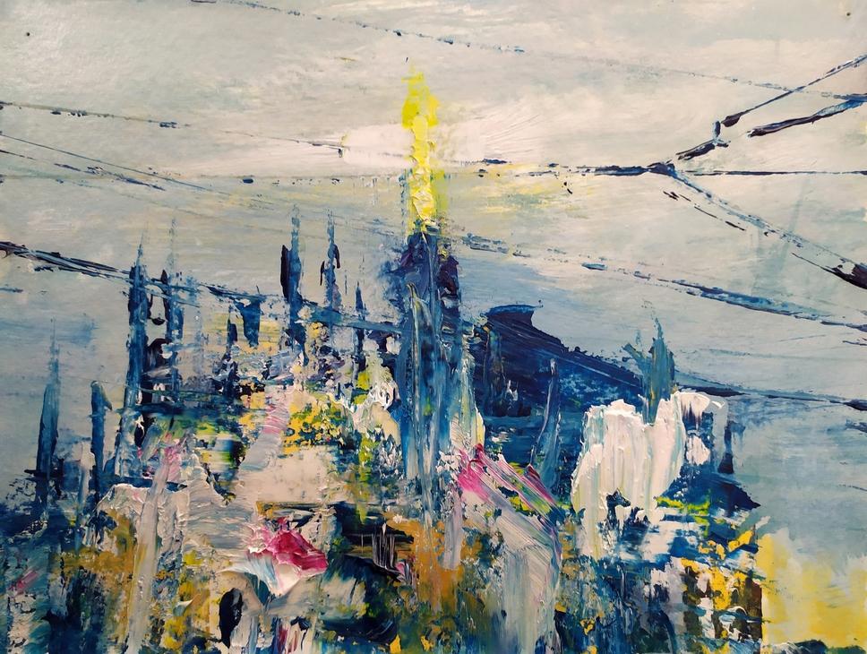 2020 Duomo 24x32cm olio su carta. rid