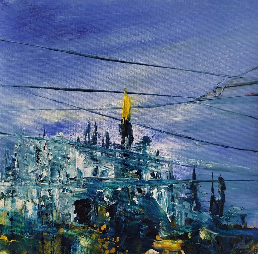 2020 Duomo 25x25cm olio su tela Francesco Zavatta
