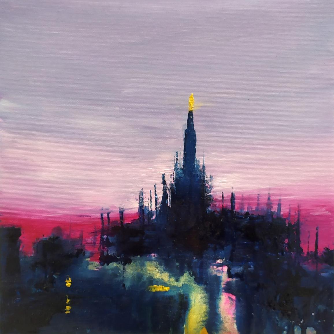 2020 Duomo 30x30cm olio su tela rid
