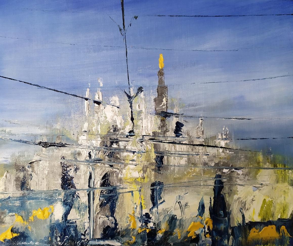 2020 Duomo 30x40cm olio su tela rid