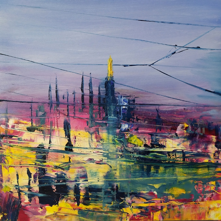 2020 Duomo 50x50cm olio su tela rid