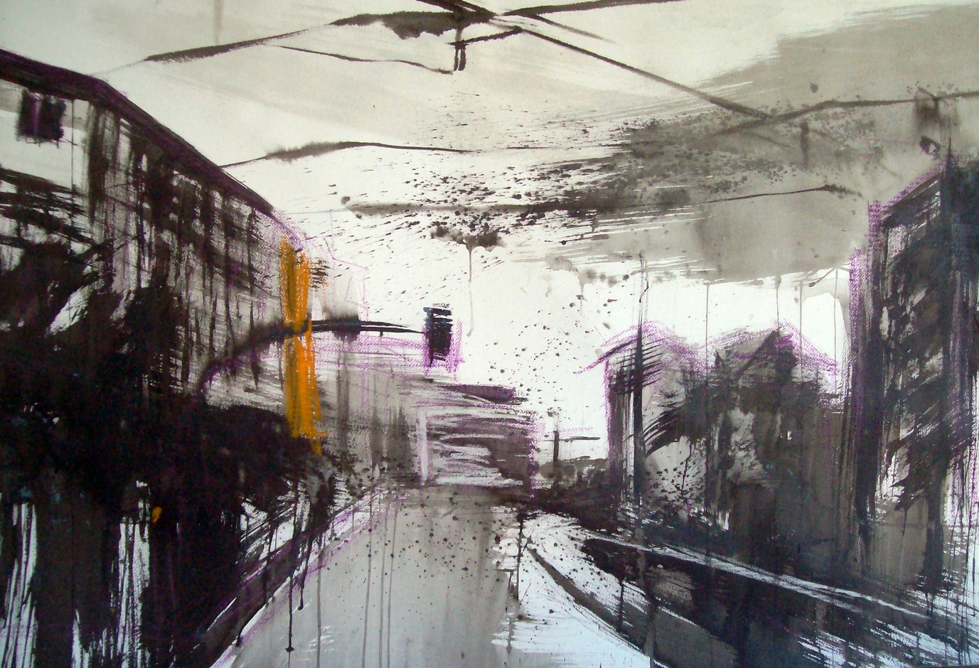 2012 Via Andrea Costa, 90x140cm, tecnica mista su carta