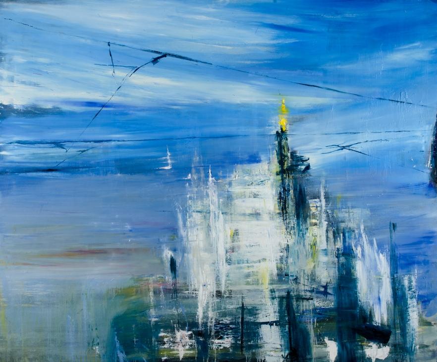 2015 Duomo 150x180cm olio su tela