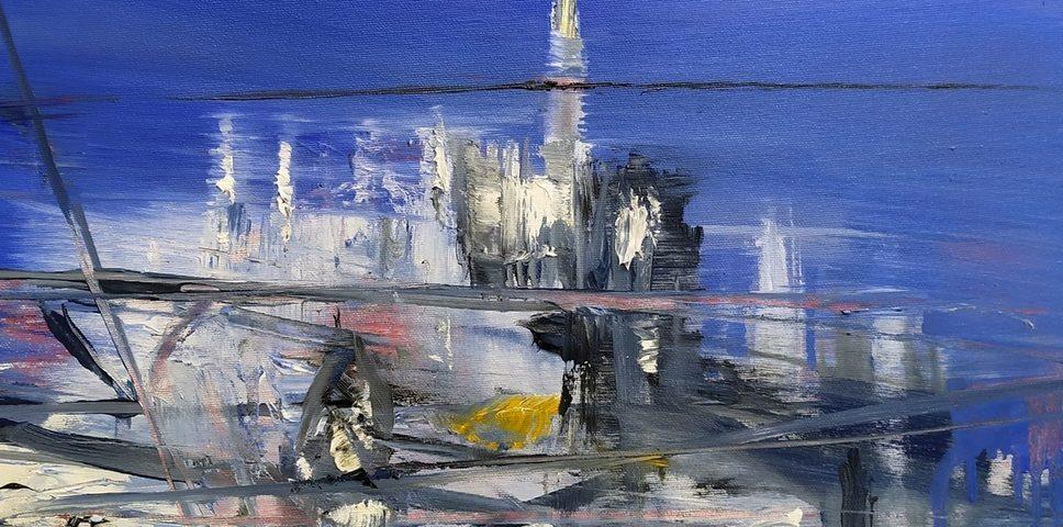 2020 Duomo 50x50cm olio su tela