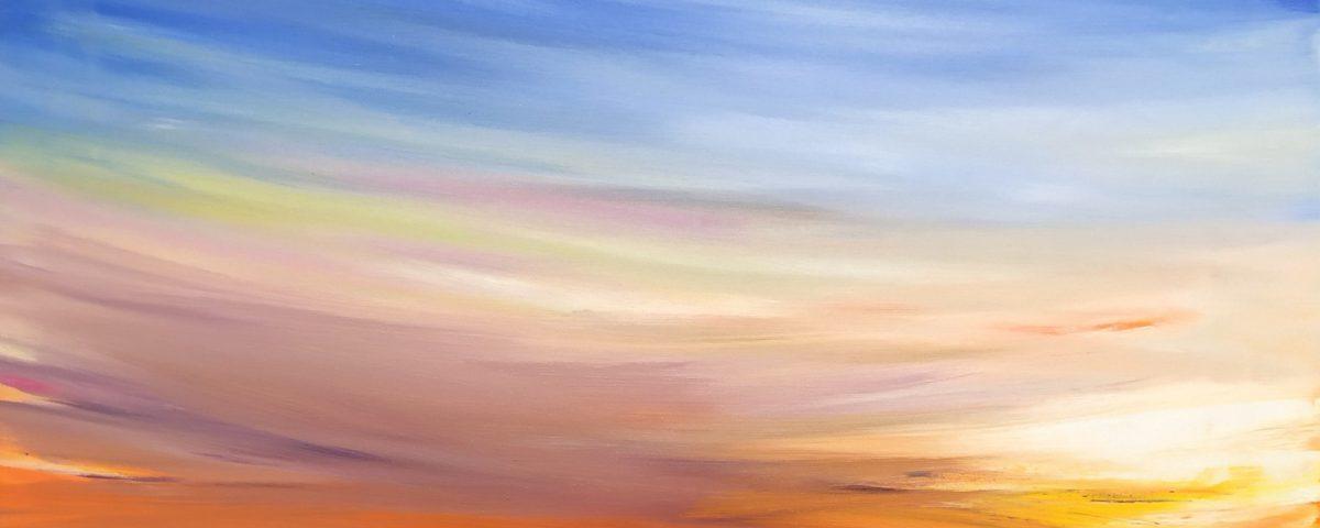 2020 Skyline 50x80cm olio su tela