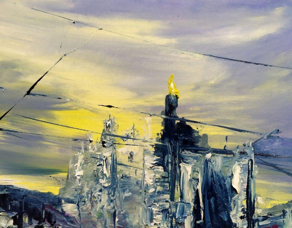 020 Duomo 020 Duomo 20x30cm olio su telaolio su tela