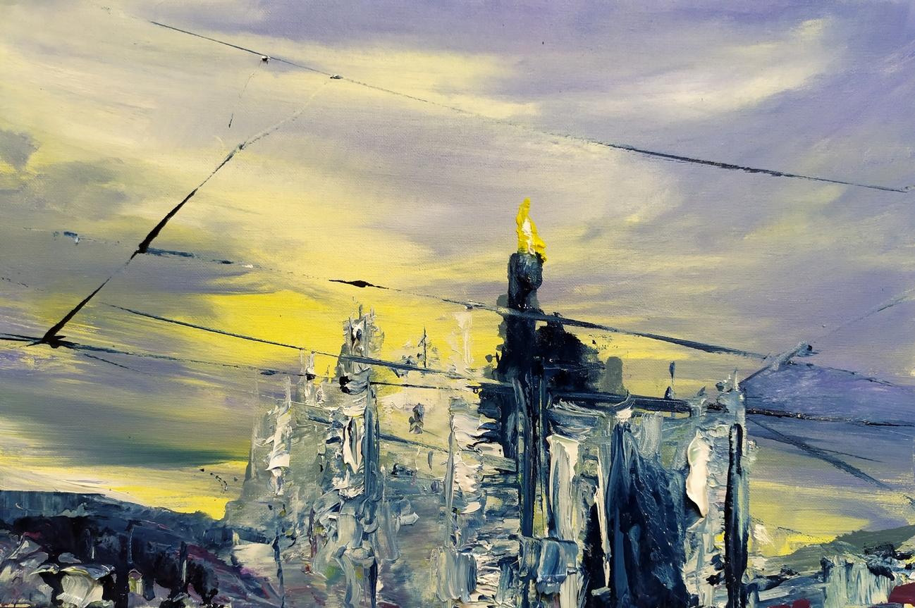 2020 Duomo 020 Duomo 20x30cm olio su telaolio su tela