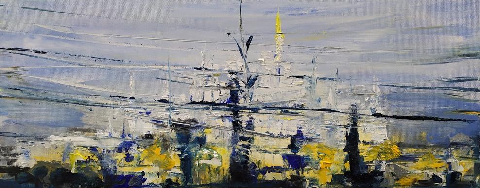 2020 Duomo 20x50cm olio su tela