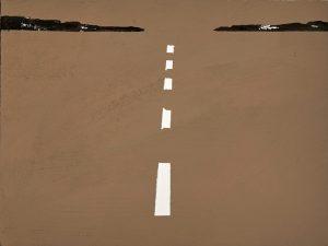 2019 Parking I 24x32cm tecnica mista su carta