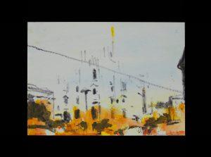 2020 Duomo 14,8x21cm tecnica mista su carta