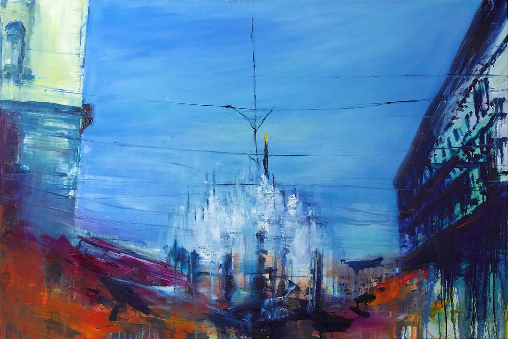 2020 Duomo 80x120cm olio su tela