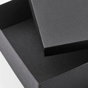 scatola con coperchio nera 25x35x10cm 2