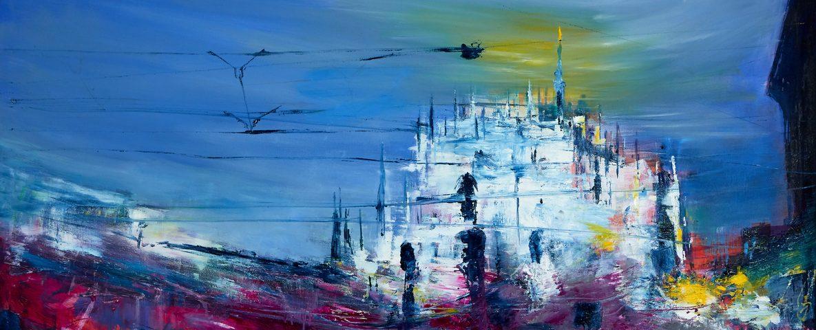 2021 Duomo 100x180cm olio su tela
