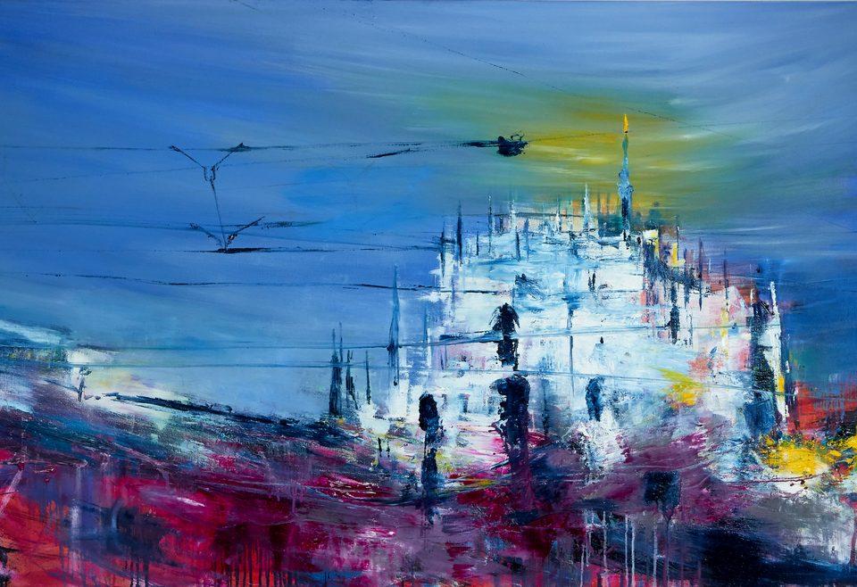 2020 Duomo 100x180cm olio su tela