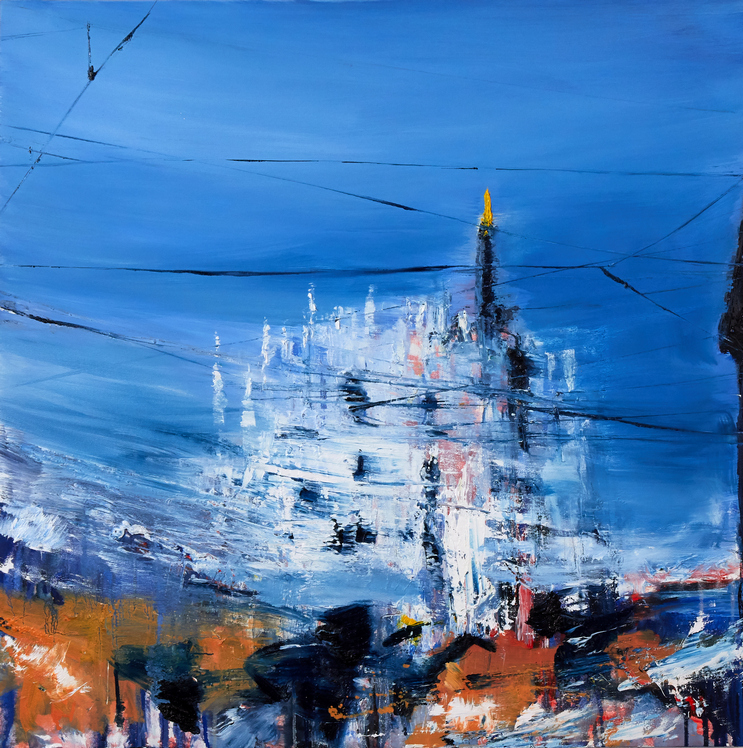 2020 Duomo 80x80cm olio su tela