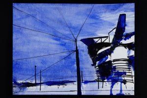2021 San Siro blu 24x32cm tecnica mista su carta 10