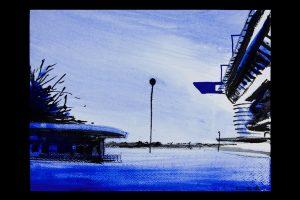 2021 San Siro blu 24x32cm tecnica mista su carta 3