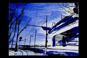 2020 San Siro blu 24x32cm tecnica mista su carta 4