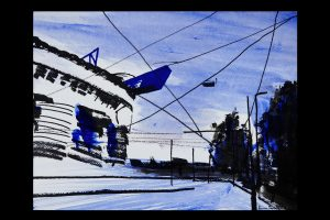 2021 San Siro blu 24x32cm tecnica mista su carta 5