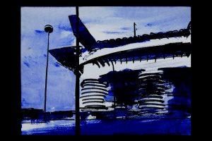 2020 San Siro blu 24x32cm tecnica mista su carta 6