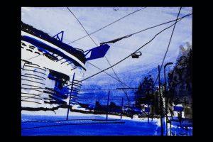 2020 San Siro blu 24x32cm tecnica mista su carta 7