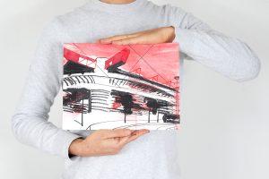 San Siro rosso 24x32cm esempio proporzioni 1