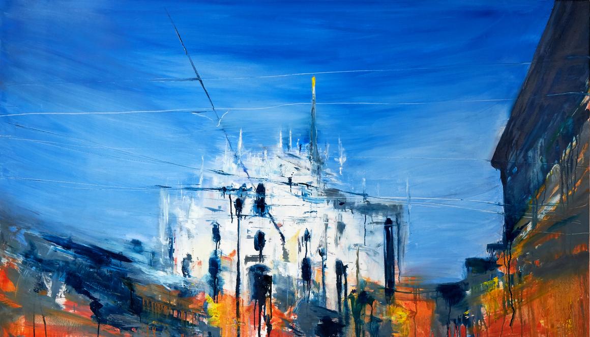 2021 Duomo 115x200cm olio su tela