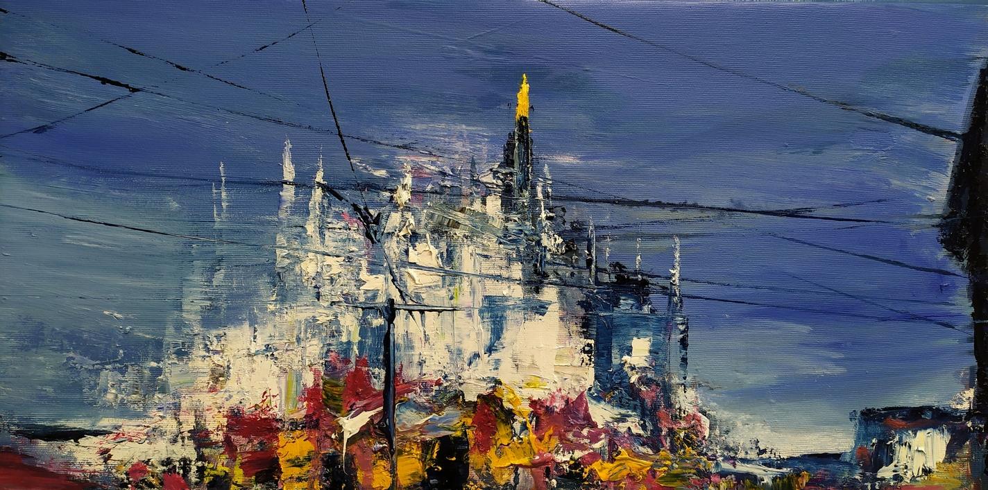 2021 Duomo 30x60cm olio su tela