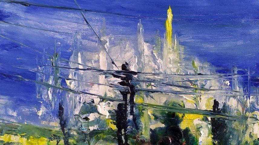2021 Duomo 24x30cm olio su tela