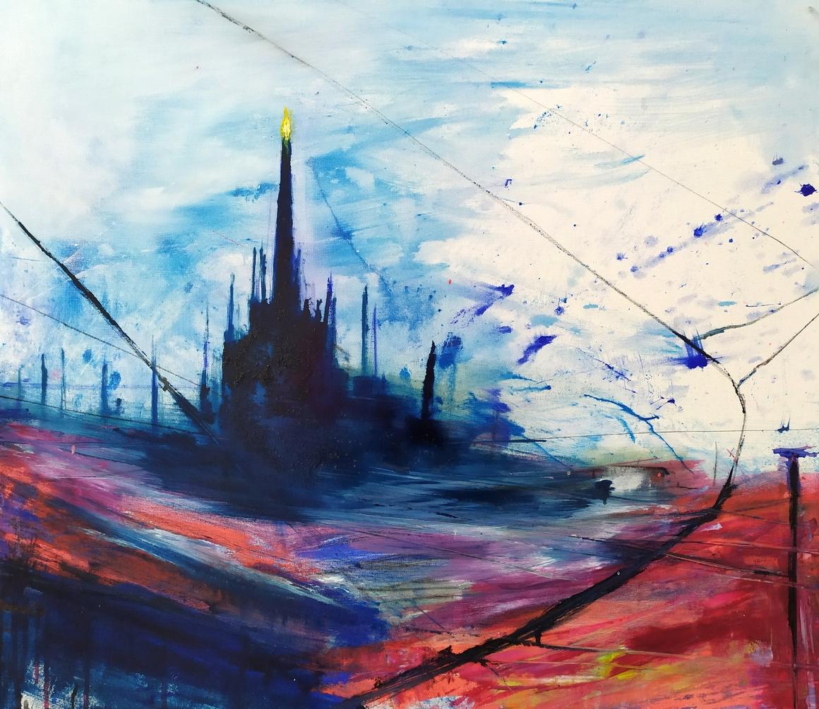 2021 Duomo 70x80cm olio su tela