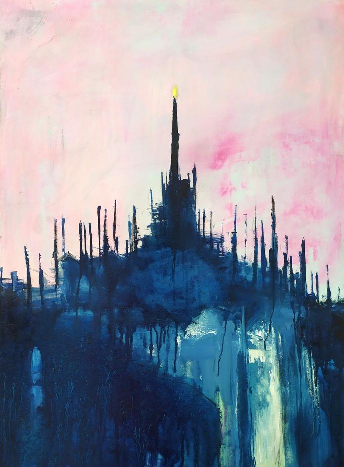 2021 Duomo 80x60cm olio su tela