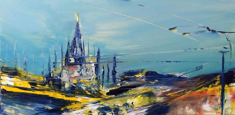 2021 Duomo Madonnina 30x60cm olio su tela
