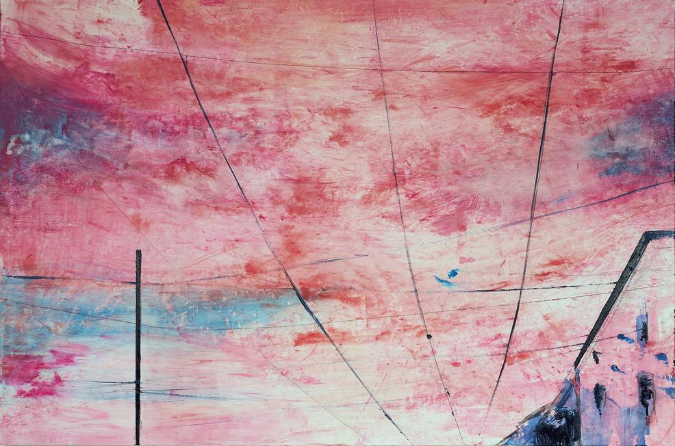 2021 Fili Milano 100x150cm olio su tela