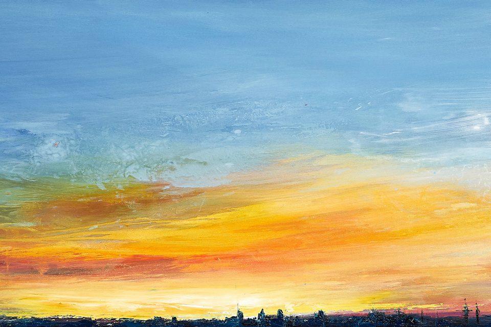 2021 Skyline Milano 60x200cm olio su tela
