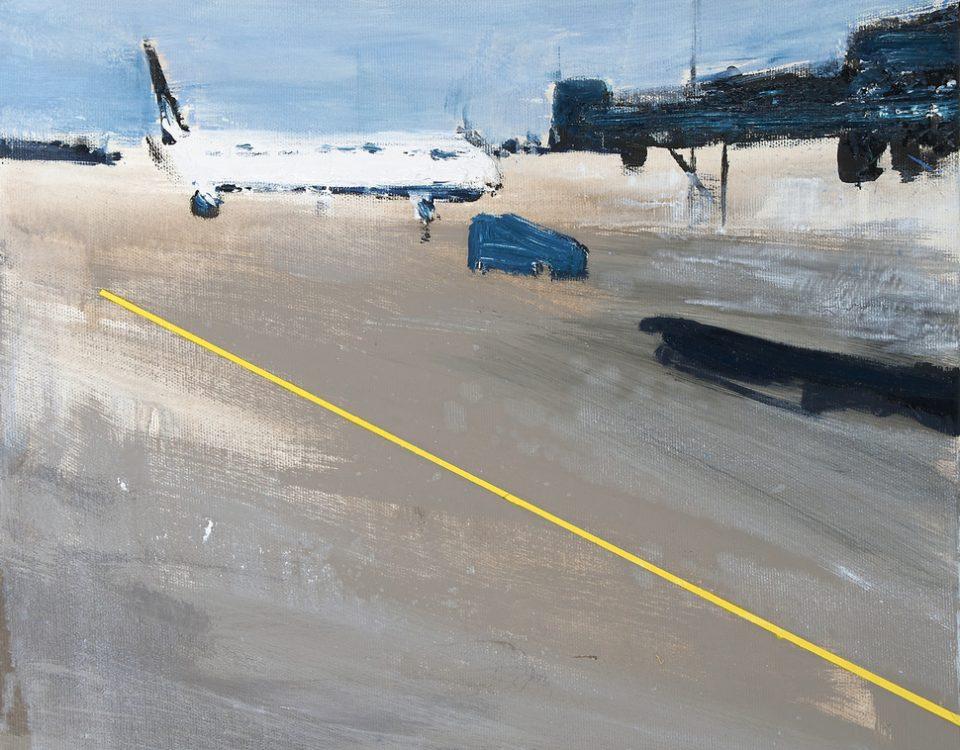 2021 Airport 50x40cm olio su tela