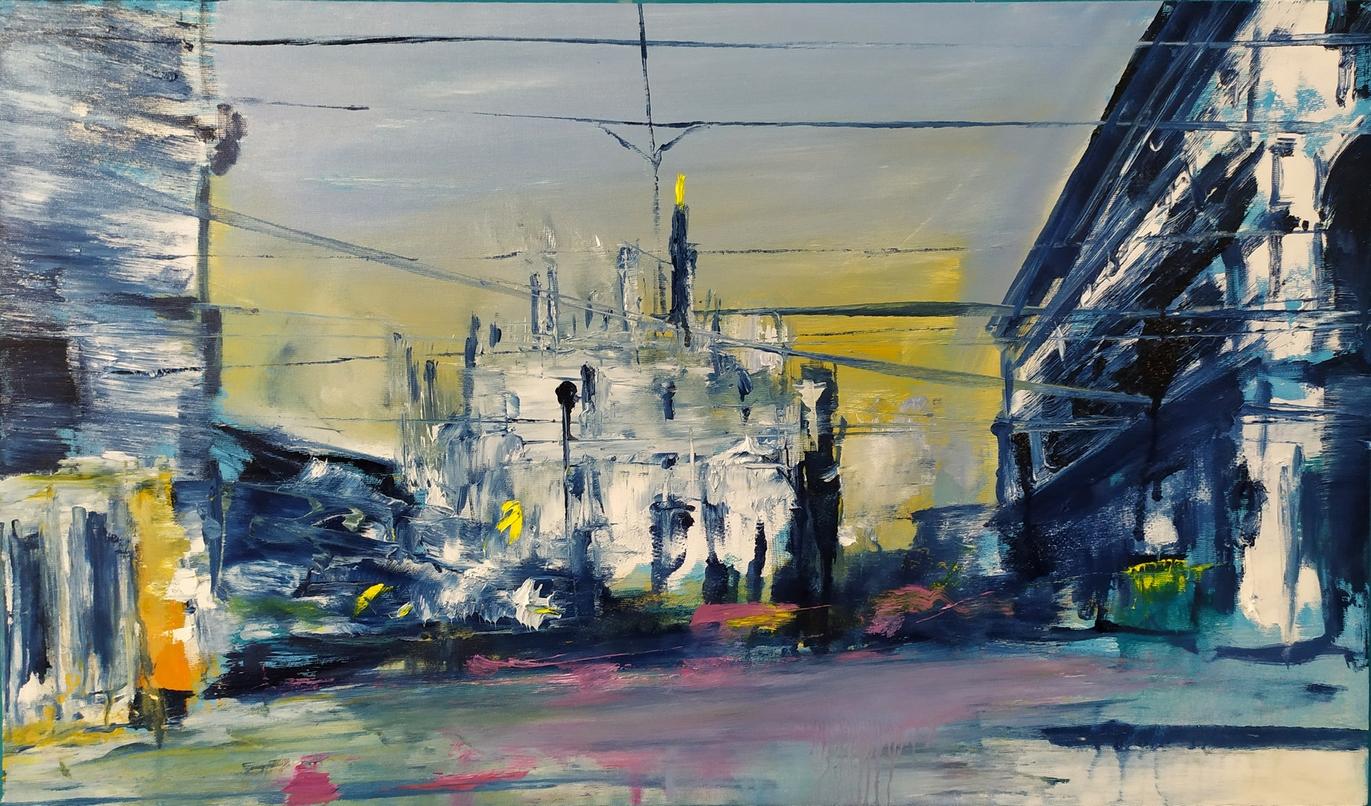 2021 Duomo 50x85cm olio su tela
