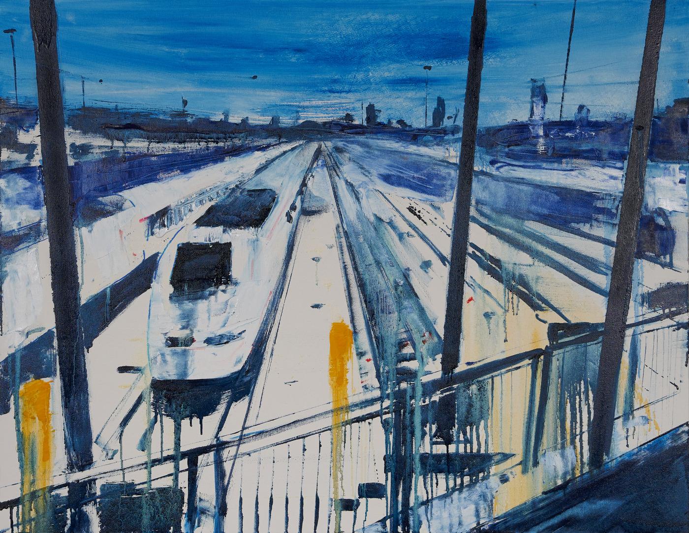 2021 Stazione Centrale 70x90cm olio su tela