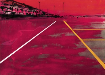 2019 Parcheggio 50x70cm mixed-media-on-canvas
