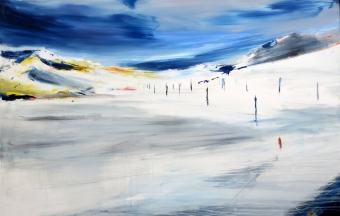 Francesco Zavatta 2018 Verso Sankt Moritz 150x230cm oil on canvas