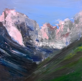 2015 - Dolomiti del Brenta, 70x70cm, oil on canvas