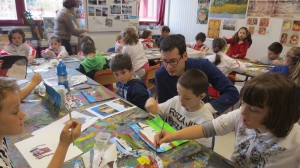 Laboratorio Dipingere la citt…a, scuola primaria Arca, Legnano