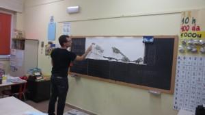 Laboratorio Dipingere la montagna, scuola primaria, Cislago 4
